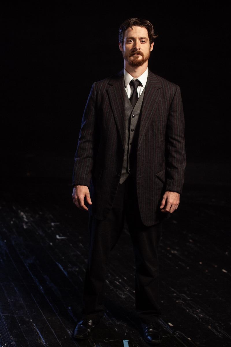 Bustle/Turn of the Century – Men's Full Outfit,  Black Stripe