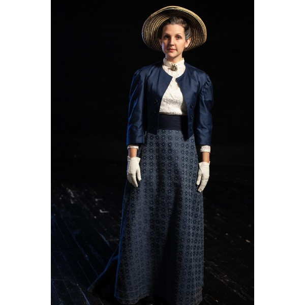 Bustle/Turn of the Century – Women's Full Outfit,  Dk Blue
