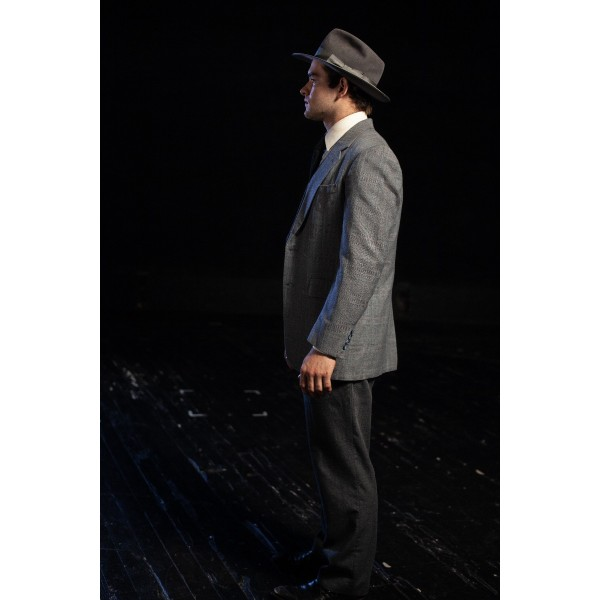 Bustle/Turn of the Century – Men's Full Outfit,  Lt Grey Plaid