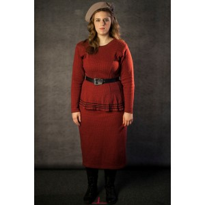 1940's – Women's Full Outfit,  Red 2