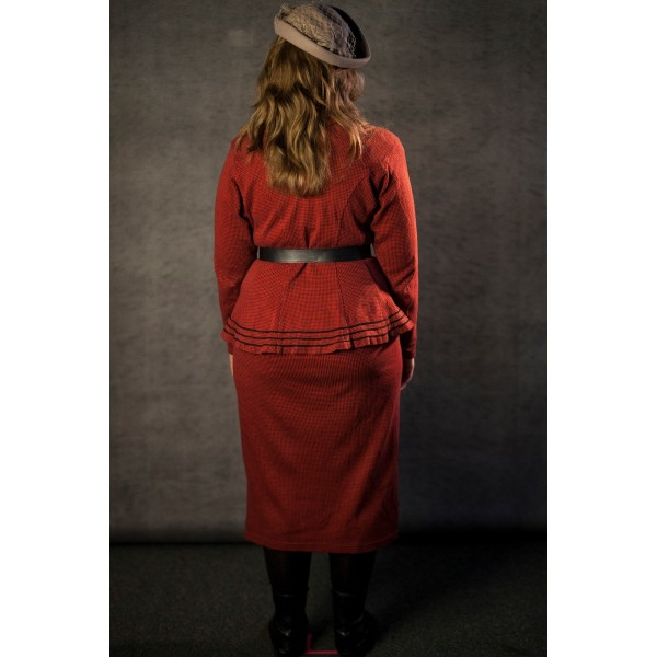 1940's – Women's Full Outfit,  Red