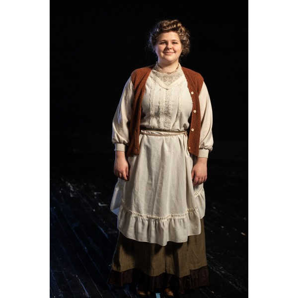 Bustle/Turn of the Century – Women's Full Outfit,  Rust and Green