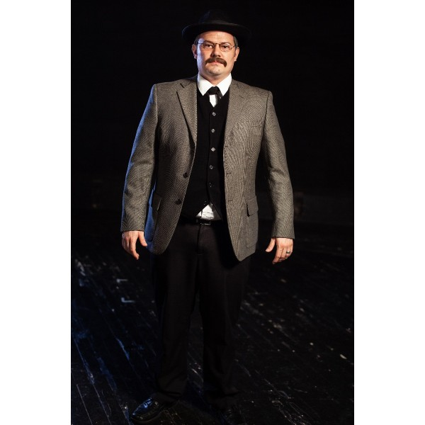 Bustle/Turn of the Century – Men's Full Outfit,  Mourning Suit Grey and Black