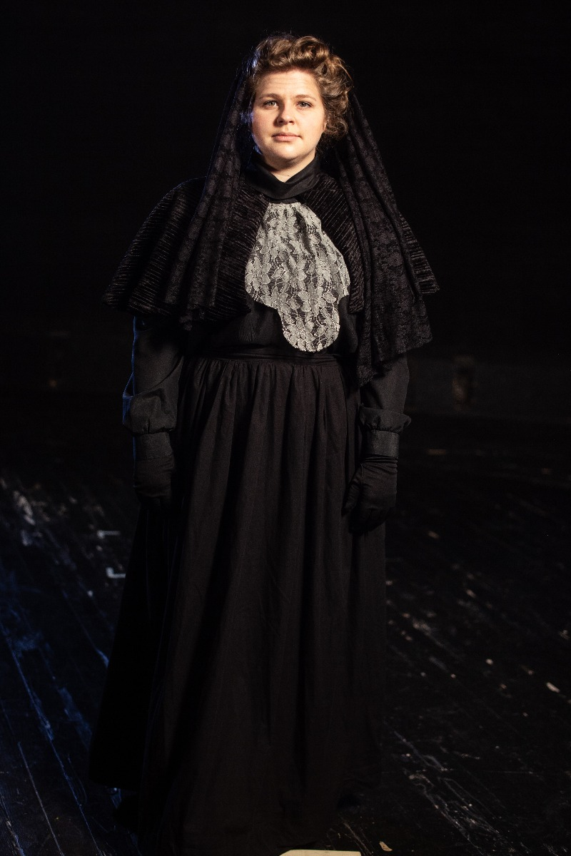 Bustle/Turn of the Century – Women's Full Outfit,  Black Mourning