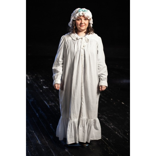 Bustle/Turn of the Century – Women's Full Outfit,  White Night Dress
