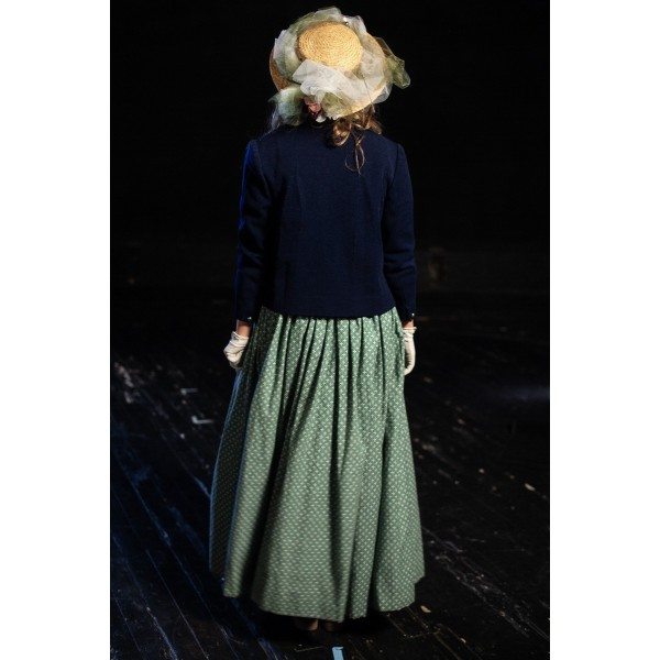 Bustle/Turn of the Century – Women's Full Outfit,  Navy and Green