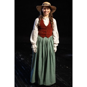 Bustle/Turn of the Century – Women's Full Outfit,  Green and Rust