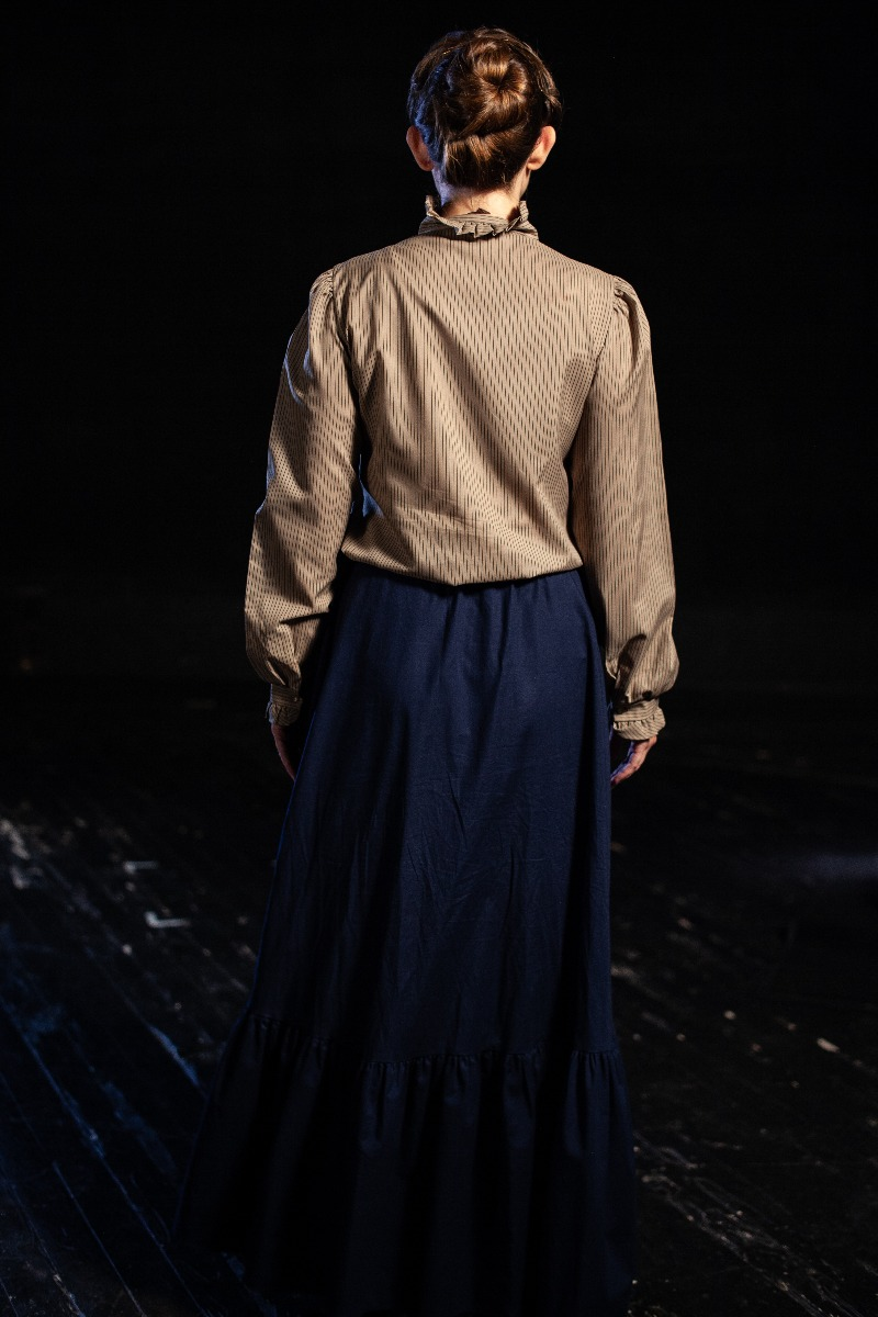 Bustle/Turn of the Century – Women's Full Outfit,  Navy Lt Brown