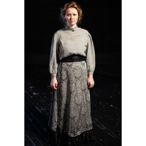 Bustle/Turn of the Century – Women's Full Outfit,  Lt Grey Floral
