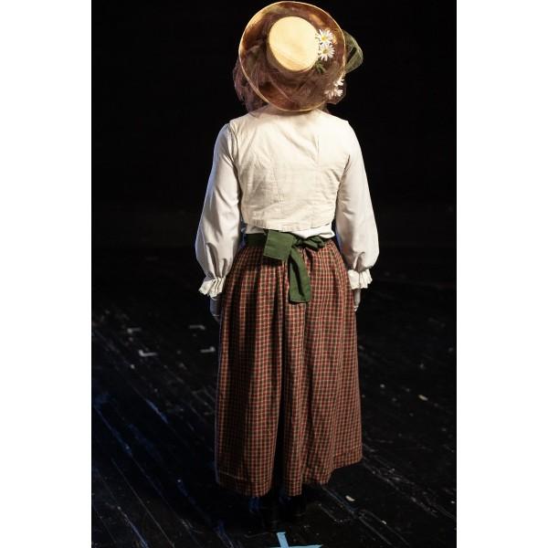 Bustle/Turn of the Century – Women's Full Outfit,  White and Red Checked