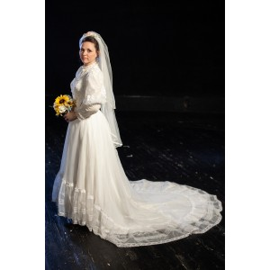 Bustle/Turn of the Century – Women's Full Outfit,  Wedding Dress