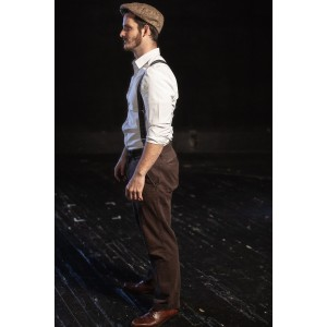Bustle/Turn of the Century – Men's Full Outfit,  White with Suspenders