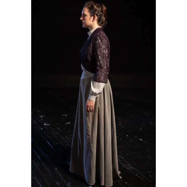 Bustle/Turn of the Century – Women's Full Outfit,  Grey and Navy