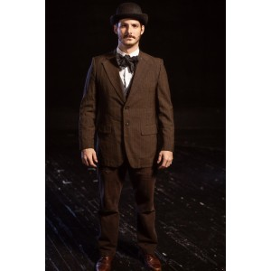 Bustle/Turn of the Century – Men's Full Outfit,  Brown and Black Suit