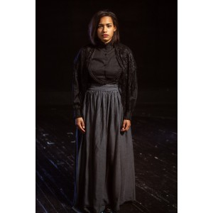 Bustle/Turn of the Century – Women's Full Outfit,  Black Mourning Dress 2