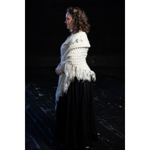 Bustle/Turn of the Century – Women's Full Outfit,  White and Black
