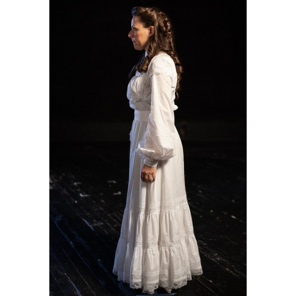 Bustle/Turn of the Century – Women's Full Outfit,  White Dress