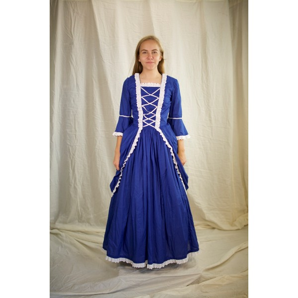 Colonial (Rev. War & F. Rev.) – Women's Outfit Full,  Blue