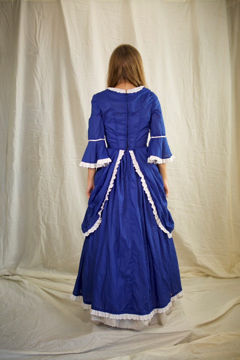 Colonial (Rev. War & F. Rev.) – Women's Outfit Full,  Blue