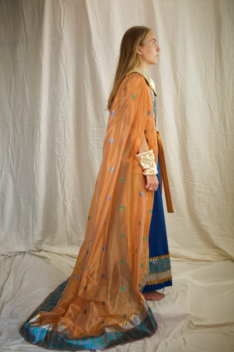Egyptian Royalty – Women's Full Outfit,  Blue and Yellow