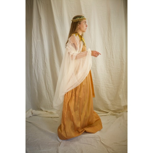 Egyptian Royalty – Women's Full Outfit,  Gold and White
