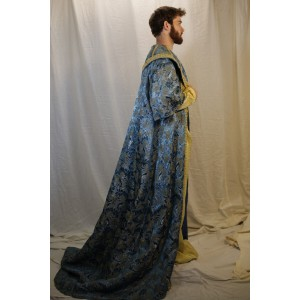 Ancient Persian – Men's Royalty Full Outfit,  Blue and Yellow