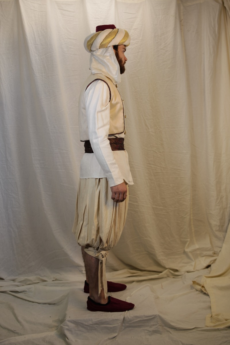 Ancient Persian – Men's Soldier Full Outfit,  White