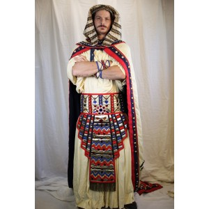 Egyptian Royalty – Men's Full Outfit,  White and Red