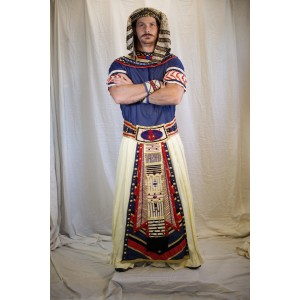 Egyptian Royalty – Men's Full Outfit,  White and Blue