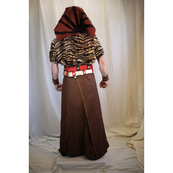 Egyptian Royalty – Men's Full Outfit,  Brown and Tiger Stripe