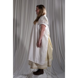 Crinoline/Civil War – Women's Full Outfit,  Cream and Yellow