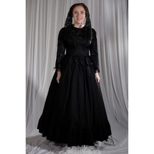Crinoline/Civil War – Women's Full Outfit,  Black 2