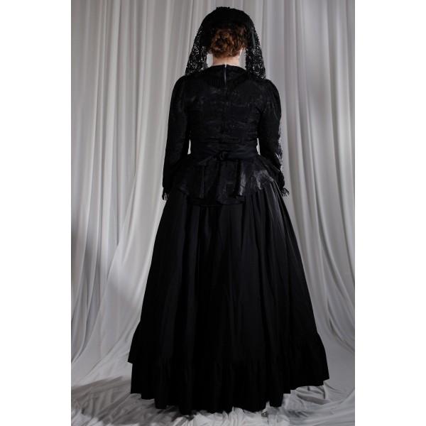 Crinoline/Civil War – Women's Full Outfit,  Black