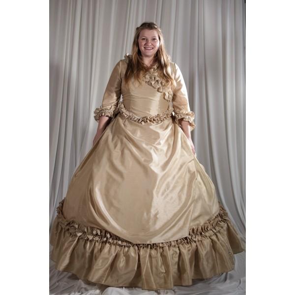 Crinoline/Civil War – Ball Gown,  Wedding Dress,  Women's Full Outfit,  Ivory