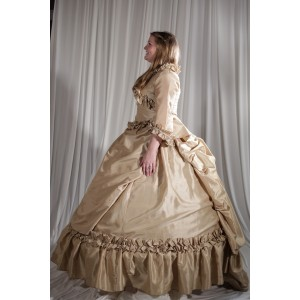Crinoline/Civil War – Ball Gown,  Wedding Dress,  Women's Full Outfit,  Ivory