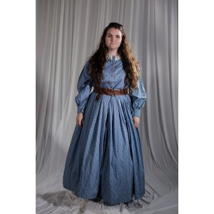 Crinoline/Civil War – Women's Full Outfit,  Blue Floral