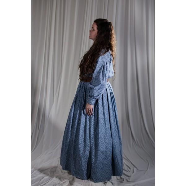 Crinoline/Civil War – Women's Full Outfit,  Blue Floral