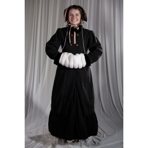 Crinoline/Civil War – Women's Full Outfit,  Winter Outfit,  Grey