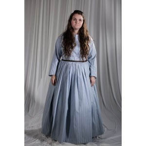 Crinoline/Civil War – Women's Full Outfit,  Lt Blue Floral