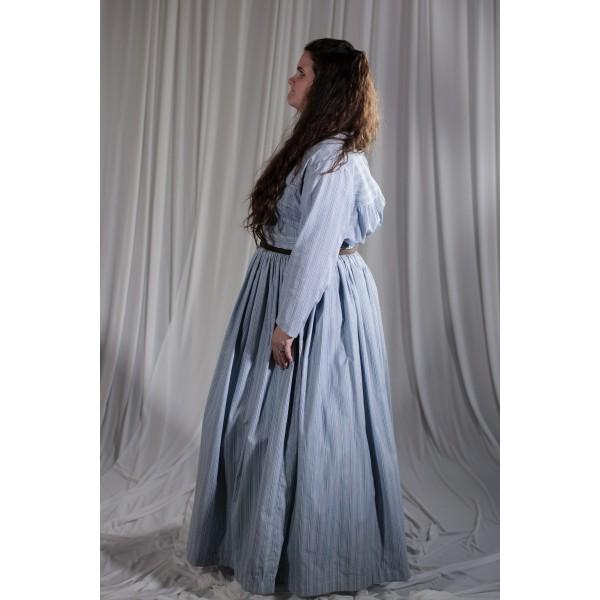 Crinoline/Civil War – Women's Full Outfit,  Lt Blue Floral