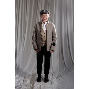 Crinoline/Civil War – Child's Full Outfit,  Winter Outfit,  Lt Grey