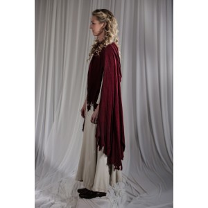 Renaissance – Women's Full Outfit,  Peasant,  Cream and Burgundy