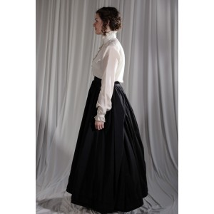 Crinoline/Civil War – Women's Full Outfit,  Black and White