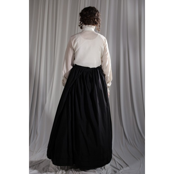 Crinoline/Civil War – Women's Full Outfit,  Black and White