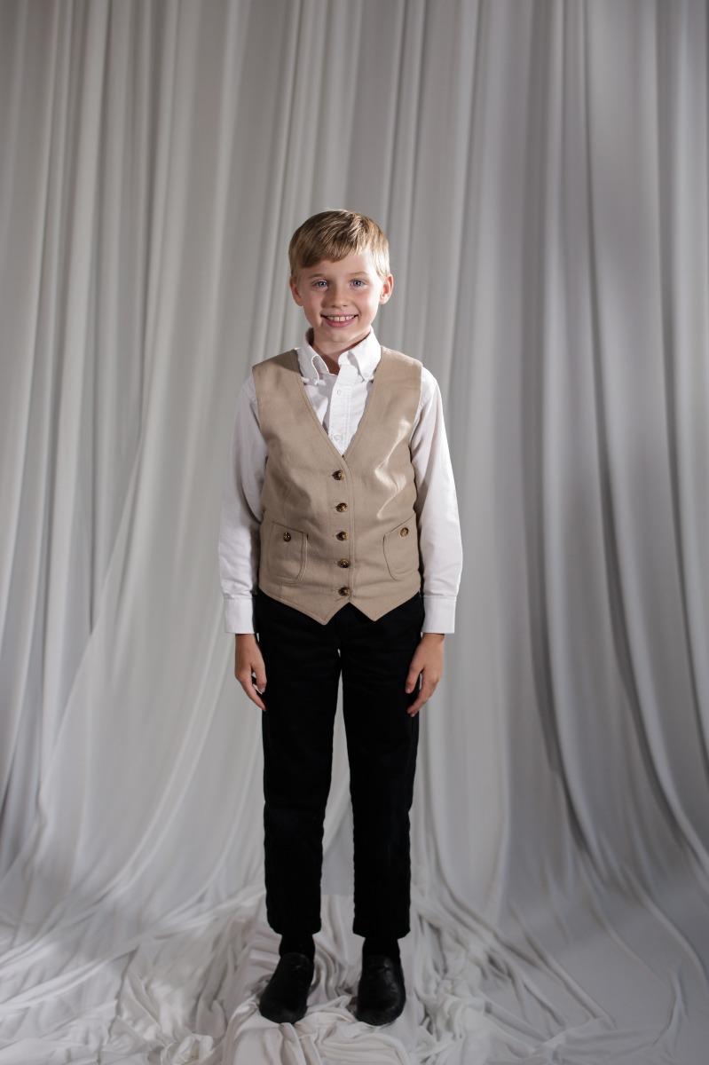 Crinoline/Civil War – Child's Full Outfit,  Cream