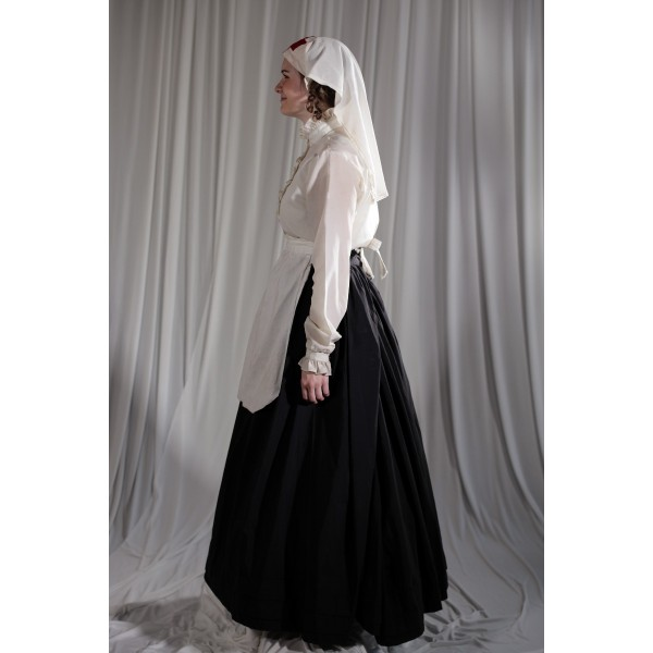 Crinoline/Civil War – Women's Full Outfit,  White,  Nurse
