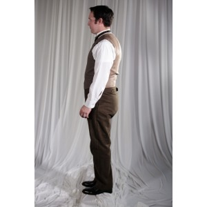 Crinoline/Civil War – Men's Full Outfit,  Tan