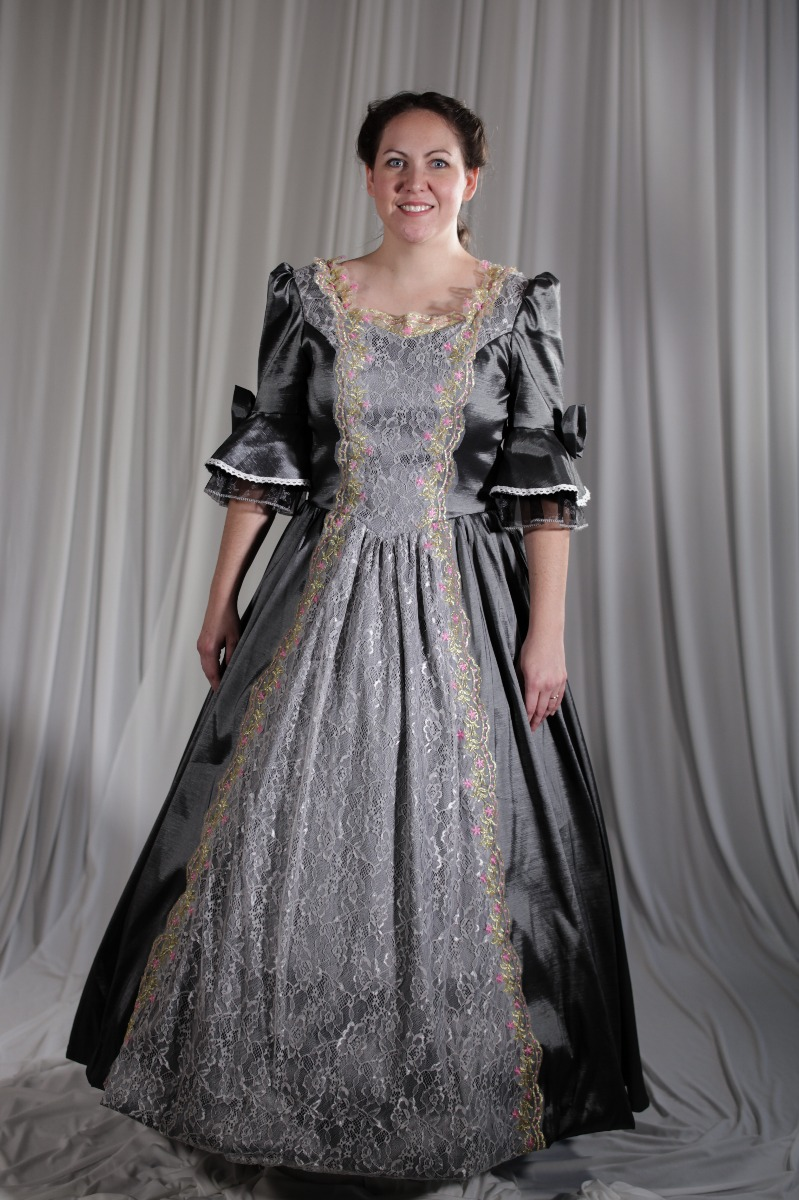 Crinoline/Civil War – Ball Gown,  Women's Full Outfit,  Gray