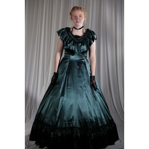 Crinoline/Civil War – Women's Full Outfit,  Ball Gown,  Green