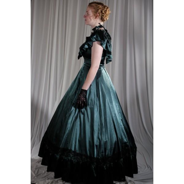 Crinoline/Civil War – Women's Full Outfit,  Ball Gown,  Green